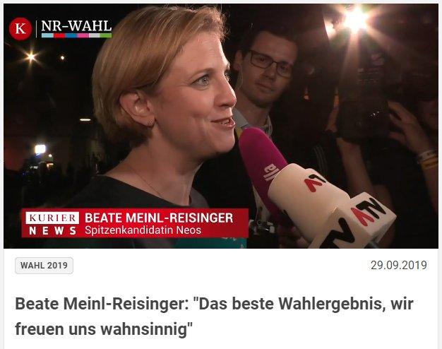 Beate Meinl-Reisinger Das ist das beste Wahlergebnis, das Neos je hatten